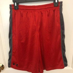 Boys Under Armour Mesh Work Out Shorts